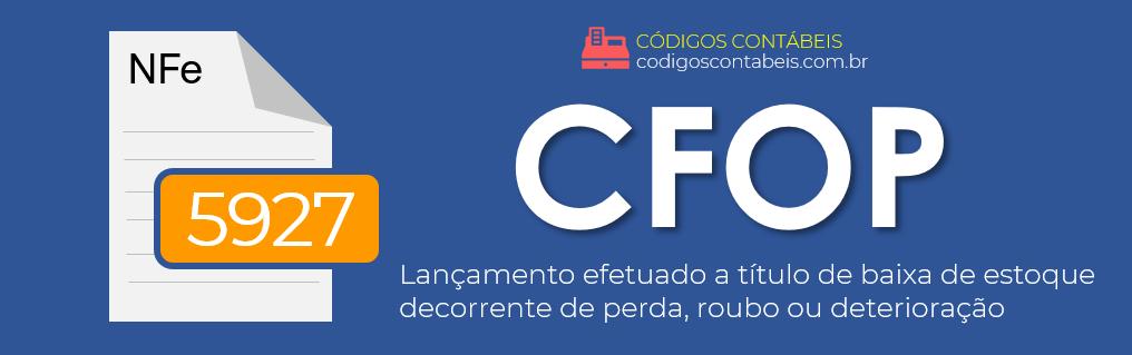 CFOP 5927