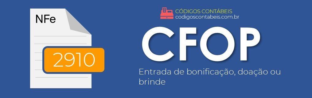 CFOP 2910