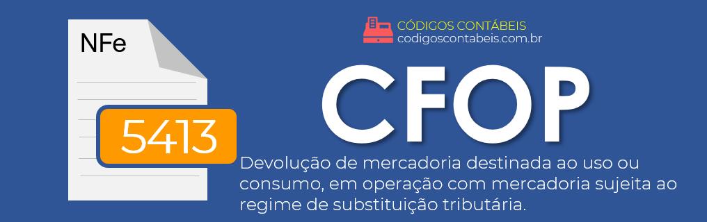 CFOP 5413