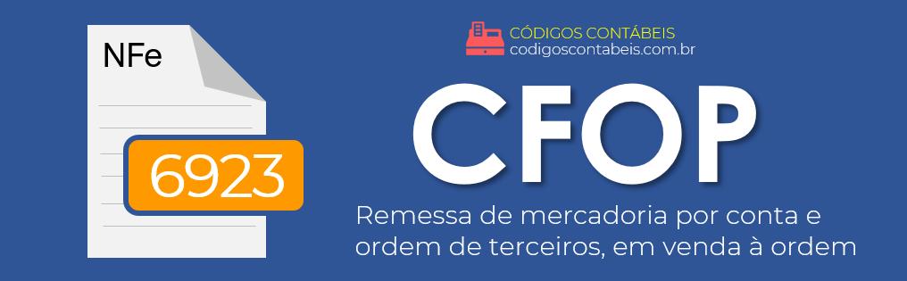 CFOP 6923
